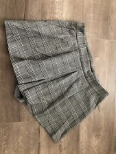 Zara Box Pleat Skorts shorts Color Gray plaid size M