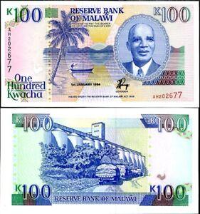 Malawi 100 Kwacha 1994 P 29 b XF