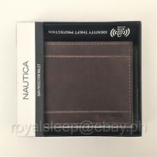 NAUTICA Genuine Leather RFID Safe Wallet **Brand New** w/ Box