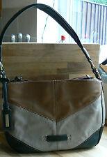 Tignanello Sew it Seam Glove Leather Shoulder Bag with Seam Details mushroom new