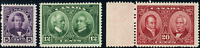 Canada #146-148 mint F-VF/F OG NH 1927 Historical Issue Set CV$84.35