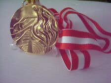 1976 Innsbruck winter Olympic 'Gold' Medal  with Ribbon & Display Stand !!!
