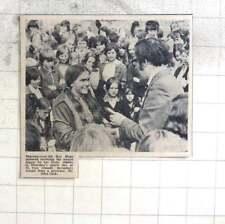 1974 13-year-old Kay Hugo Receives Award St Ives Secondary School