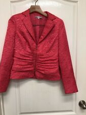 Maggy London Womens Pink Salmon blazer Zip up jacket Sz 4 350 cb