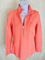 Tommy Bahama Peach Pullover Quarter Zip L/S Sweatshirt Women's Size Small
