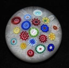Baccarat Crystal 1980 Millefiori 139 Art Glass Paperweight, 3""