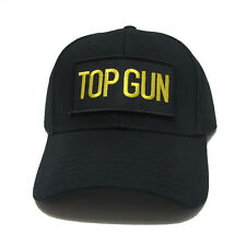 US NAVY TOP GUN Military Patch Baseball Adjustable Snapback Black Cap Hat - TG01