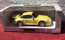 UT Models Porsche 911 Turbo S 1/18 scale Die Cast Model in box *Yellow
