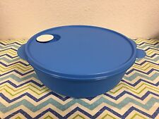 Tupperware Large Crystalwave Microwave Container 3qt Blue New