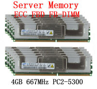 For Samsung 4GB 8GB 16GB DDR2 667MHz PC2-5300F FB-DIMM ECC Server Memory Lot