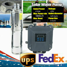 3 Dc24v Deep Well Solar Water Pump Submersible Off Grid Mppt Controller 1800lh