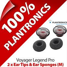 2 x Plantronics Replacement Medium Ear Tip Gels Bud & Sponge Voyager Legend Pro