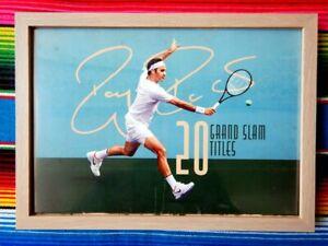 ✺Framed✺ ROGER FEDERER Tennis Poster - 45cm x 32cm x 3cm