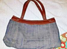 31 THIRTY ONE Changeable Fitted Skirt Purse Denim skirt + Brown Floral