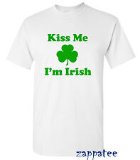 Kiss Me I'm Irish T Shirt - Ireland St Patrick's Day Rugby Holiday Football