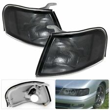 Replacement For Nissan Sentra 200SX 1995-1999 Smoked Lens Chrome Housing Lights