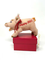 "STEIFF LUCKY 2000 PIG 7"" (17cm) Pink MOHAIR Standing NonJointed Millennium Pig"