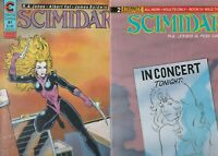 SCIMIDAR 11 COMIC LOT ALL FINE TO FPLUS   ETERNITY COMICS