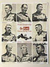 Vintage Go Kart 800 Azusa Ca Racing Team Promo Photo Signed Livingstone Kanamoto