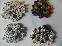 200 - 1000 Alphabet Letter Cube Beads Mixed for Loom Band Bracelets - UK Seller