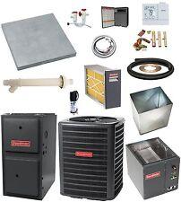 UP-FLOW_MOST COMPLETE 96% 2-Stg 120k btu Gas Furnace & 5 Ton 16 SEER AC + MORE
