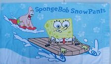 2003 SpongeBob SquarePants 100% cotton twin flat sheet pillowcase Snowpants