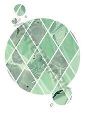 Abstract Geometric Gircles Green Marble Art Print Poster 12 x 16  HP4216