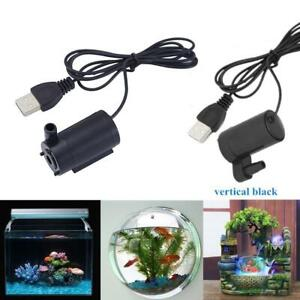 USB Mini Aquarium Fish Tank Oxygen Air Pump Portable Ultra Silent 1 M 5V Cable