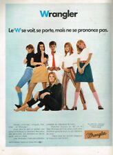 J- Publicité Advertising 1968 Pret à porter Vetements Wrangler