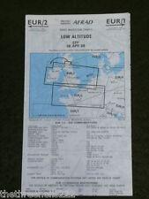 AVIATION CHART - LOW - UK & N. FRANCE - EUR1 EUR2 - APRIL 1989 - 44x114cm