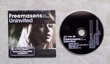 """CD AUDIO MUSIC/ FREEMASON FEAT. BAILEY TZUKE """"UNINVITED"""" 4T CD SINGLE 2008 HOUSE"""