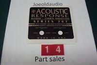 Acoustic Response Series 707 Speaker  Low/High Frequency Adjust Badge.