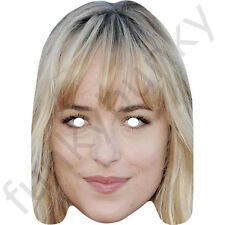 Dakota Johnson Celebrity Card Mask - Fifty Shades of Grey All Masks Are Pre-Cut