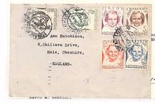 BF313 1946 NETHERLANDS Den Haag GB Cheshire Hale Cover STAMP EXCHANGE