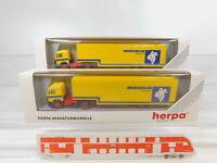 CA297-0,5# 2x Herpa 1:87/H0 035842 Sattelzug/SZ Mercedes/MB Michelin, NEUW+OVP