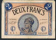 LA FRANCE JOURNAL local argent Chambre de Commerce de PARIS 2 FRANCS 1922 GVF