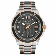 Bulova Men's 98D127 Marine Star Diamond Markers Quartz Two Tone Dress Watch