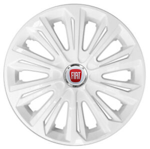 """4x14"""" Wheel trims wheel covers fit Fiat 500 14 inches white NEW"""