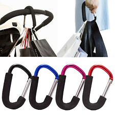 Pushchair Hook Clip Large Buggy Pram Shopping Trolley Bag Strong Mummy Carry UK