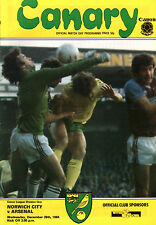 1984/85 Norwich City v Arsenal,  Division 1, PERFECT CONDITION