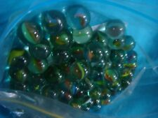 GLASS MARBLES GREEN PACK OF 150 CHILDREN'S TOY OR DECORATOR OR CRAFT MARBLES