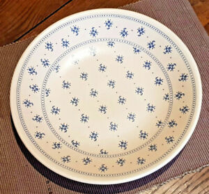 Antique Flat Hollow Round Of 29,8 CM Earthenware Gien France Decor The Flowers