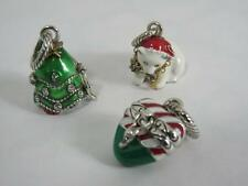 BRIGHTON SET OF 3 CHRISTMAS CHARMS   TREE,  CANDY CANE, POLAR BEAR,  NWOT  # 2