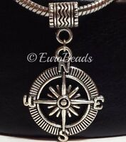 Compass_Bead Pendant For European Charm Bracelet Necklace_Camping Trip_Y17