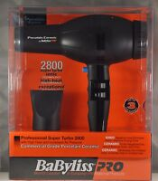 BABYLISS PRO PORCELAIN CERAMIC IONIC SUPER TURBO 2800 HAIR DRYER HAIR BLOWER NEW