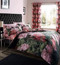 Rosas Flores Floral Rosa Rojo Verde King Size duvet cover
