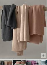 New Eileen Fisher Nutmeg One Size 100% Cashmere Throw Blanket $468.00
