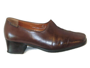 Mephisto Womens Slip-on Pumps Loafers Dress Shoes USA 6.5 M Brown Leather