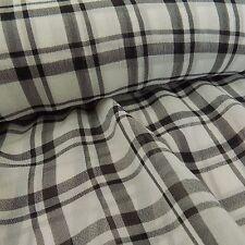 Lightweight Georgette Polyester Check Plaid dressmaking fabric, black, white,