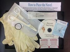 NAVEL, Belly Button SELF PIERCING KIT professional INC CLAMPS DVD Instructions